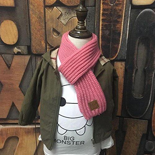 MHGAO Winter Herfst Warm Verdikking Breien Sjaal voor Kinderen, 5