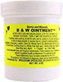 B&W Ointment - Burn and Wound Ointment - Amish Made Burn Salve - 100% Natural - 4oz