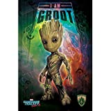 Marvel Comics PP34110 Guardians of The Galaxy Vol. 2 (I Am Groot - Space) Maxi Poster, Multicolore, 61 x 91,5 cm