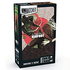 Unmatched is a fast-paced game of tactical combat between unlikely opponents. Pick your favorite hero, choose a location, and use your hero's unique deck and abilities to win the day. You can mix up heroes and maps from any set. Features the innovati...