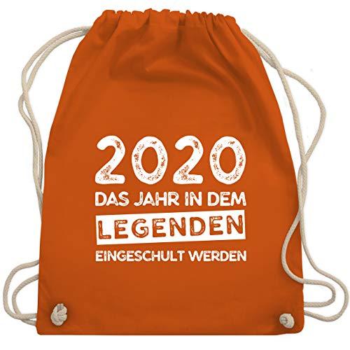 Shirtracer Einschulung und Schulanfang - 2020 Das Jahr in dem Legenden eingeschult werden - Unisize - Orange - beutel schulanfang - WM110 - Turnbeutel und Stoffbeutel aus Bio-Baumwolle