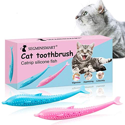 Cat Toothbrush Toy, Catnip Toys for Cats, Cat Toys with Catnip, Teeth Cleaning...