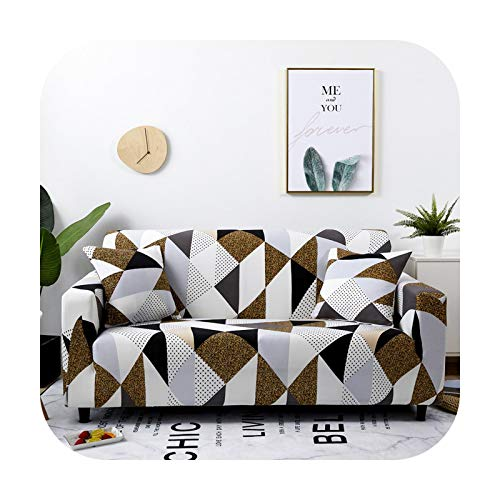 Sofa covers 1/2/3/4-Seat Black and White for Living Room Couch Cover Sofa Chair Cover Stretch Material Case for Sofa-Color 14-1Pc 3-Seat 190-230Cm