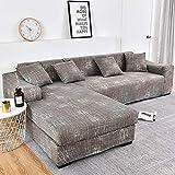 WXQY Fundas Estampadas a Cuadros Funda de sofá elástica elástica Funda de sofá de protección para Mascotas Funda de sofá con Esquina en Forma de L Funda de sofá con Todo Incluido A17 2 plazas