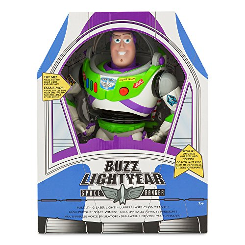 Buzz Lightyear Interactive Talking Action Figure - 12 Inch (Original Phrases and Sounds) Disney