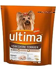 ultima Yorkshire Terrier Perros Croquetas De Pollo Cereal De Arroz 800 G De Formato Completo (Set De 3)