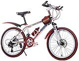 ZGQA-GQA Bicicletas for niños Bicicleta de montaña Bicicleta for niños Bicicleta for niños for niños Bicicleta de Carretera for niños y niñas (Color: Rojo, Tamaño: 24 Pulgadas)