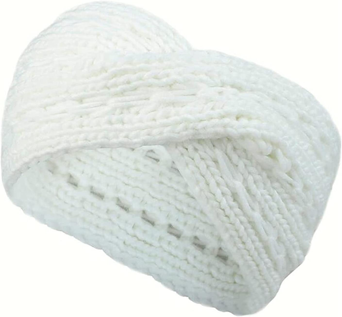 YUXINYAN Headbands Warm Winter Turban Fashion Ladies Knitted Turban Headband Elegant Headband Accessories Head Scarfs (Color : A)