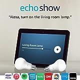 Echo Show (2nd Gen) with Philips Hue Bulbs - Alexa smart home starter kit - Charcoal