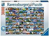 Ravensburger-17080 Ravensburger 99 Hermosos Lugares en Europa 3000 Piezas Rompecabezas para Adultos y niños de 12 años en adelante, Multicolor (17080)