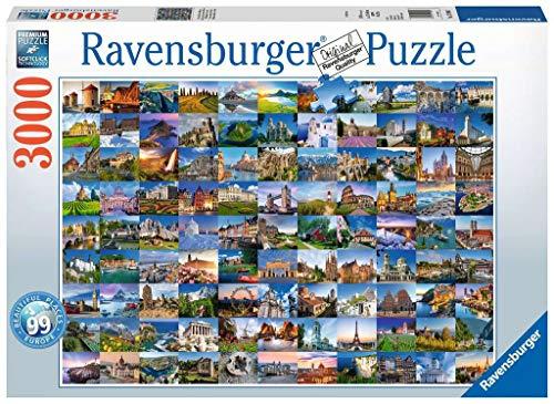 Ravensburger Puzzle 17080 - 99 Beautiful Places in Europe - 3000 Teile Puzzle für Erwachsene und Kinder ab 14 Jahren
