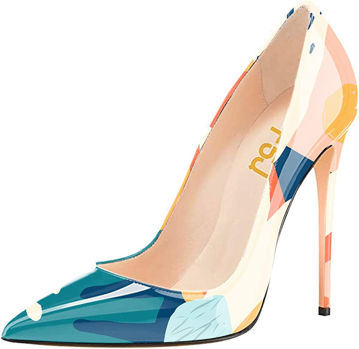 FSJ shopping Women Formal Pointed Toe Pumps Slip Stilettos Sexy Heel Sale Special Price High