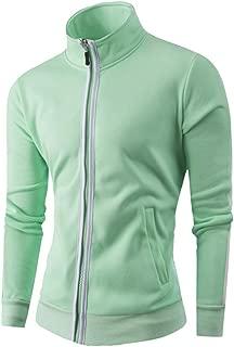 Mens Thin Casual Zipper Long Sleeve Jumper Bomber Jacket Coat Sport Tops