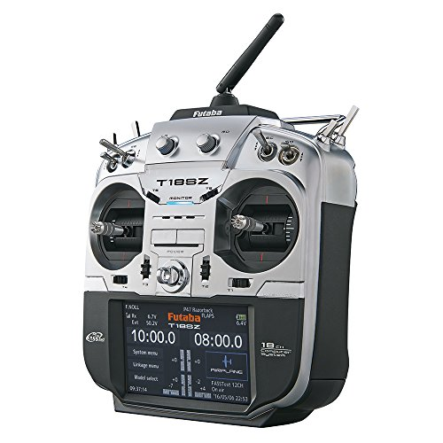 Futaba 18SZA 18-Channel FASSTest, FASST, T-FHSS, S-FHSS Computerized Radio Control Transmitter with Telemetry and R7008SB Receiver-Airplane Version