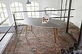 Ribelli Gartentisch 'Bali' - Esstisch grau & braun für Garten, Terrasse & Balkon rechteckig, Tischbeine Akazie massiv - Tisch mit Tischplatte in Beton Optik