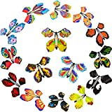 45 Pieces Magic Fairy Flying Butterfly Wind Butterfly Toy Flying Butterfly Decorations for Surprise Wedding Birthday Decoration (Vintage Style)