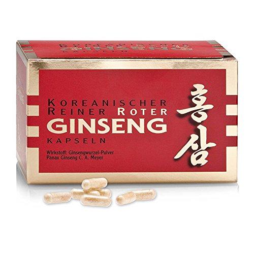 Ginseng rojo de Corea original con raíz de 6 años (Panax Ginseng) - 200 Cápsulas - Entrega Gratis