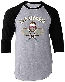 Baumer Richie Tennebaum Tennis Raglan Baseball Tee Shirt