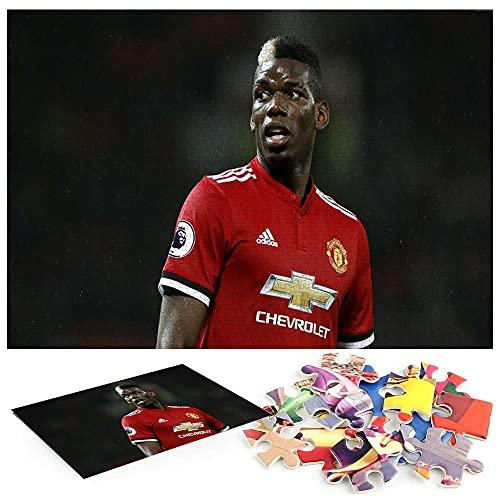 Paul Pogba Manchester United Fußball Puzzle Ab 1000 Teile Legespiel,Geschicklichkeitsspiel für die ganze Familie,Erwachsenenpuzzle