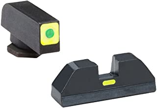 AmeriGlo Cap Thin Sight Set for Glock 17/19, LumiGreen