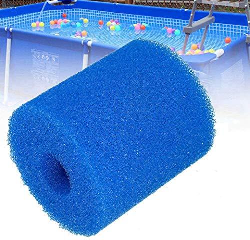 Filterkartusche Typ H,Wasserfilterkartuschen Filteranlagenzubehör Wiederverwendbar und Waschbar Schwimmbad Filter Schaum Schwamm, für Intex H Typ (4Stück)