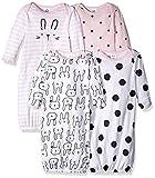 Gerber Baby Girls' 4 Pack Gowns, Pink Bunny, Preemie