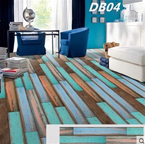 Hintergrundbild ZYJ Verdickte PVC Holzboden Aufkleber Schlafzimmer Badezimmer Wasserdicht Verschleißfeste Tapete dekorative Wand-Aufkleber Selbstklebende 9.14 (Color : 3)