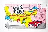 AZ FLAG Flagge USA Route 66 150x90cm - VEREINIGTEN Staaten VON Amerika Fahne 90 x 150 cm - flaggen Top Qualität