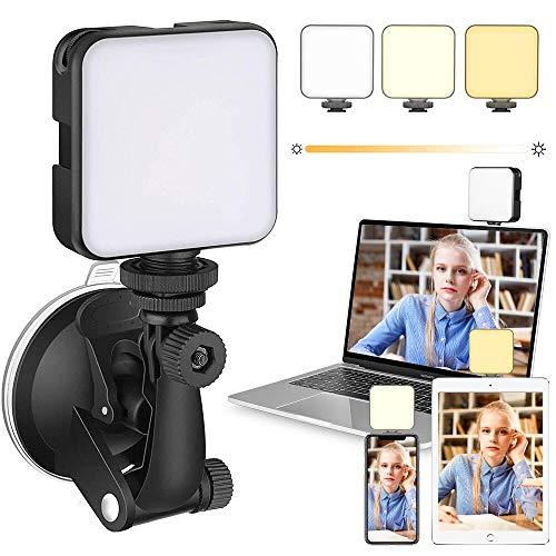 SaponinTree Kit de Iluminación para Videoconferencia con Trípode de Soporte, Luz de Cámara Web, Variabile Temperatura e Intensità, para videoconferencia, Zoom, transmisión automática