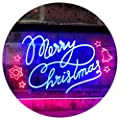ADVPRO Merry Christmas Tree Star Bell Display Home Décor Dual Color LED Neon Sign st6-j2038