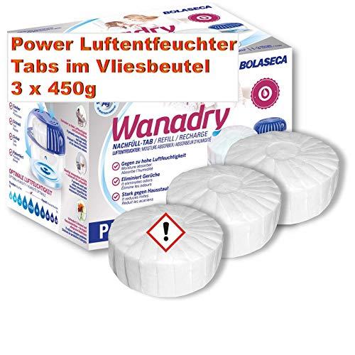 Pastillas deshumidificadoras en fieltro 3 x 450 g Premium Recarga para deshumidificador, pastillas de recambio neutrales