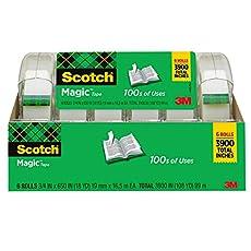 Image of Scotch Magic Tape 6 Rolls. Brand catalog list of Scotch Brand.