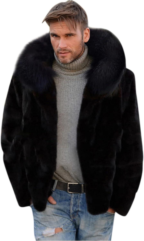 Men's Fleece Hooded Coat Winter Warm Casual Fuzzy Sherpa Jacket Faux Fur Cardigan Plush Teddy Jackets Outerwear