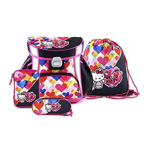 Target Square Hello Kitty Hearts Set 4in1 Schulrucksack, 38 cm, 12 liters, Blau (Blu)