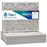 Tier1 16.375x21.5x1 Merv 8 Pleated Air/Furnace Filter -6 Pack