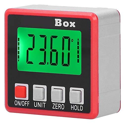 Caja de nivel, medidor de ángulo de nivel, inclinómetro digital, mini medidor de ángulo de nivel para medir
