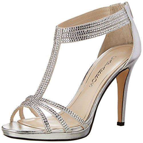 Caparros Women's Maddy Dress Sandal,Silver,9 M US