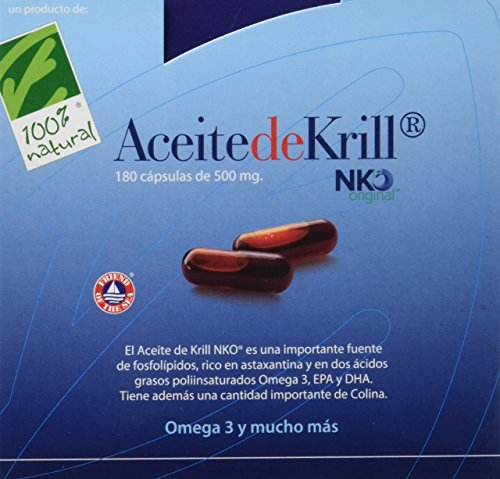 100% natural Aceite de Krill - 180 Cápsulas