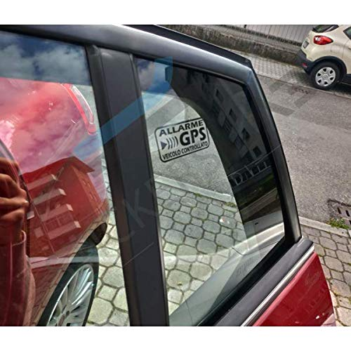 StickersLab – Pegatinas de alarma GPS antirrobo por satélite para evitar robos de coche, moto, camión, color negro (8 unidades (6 x 3 cm)