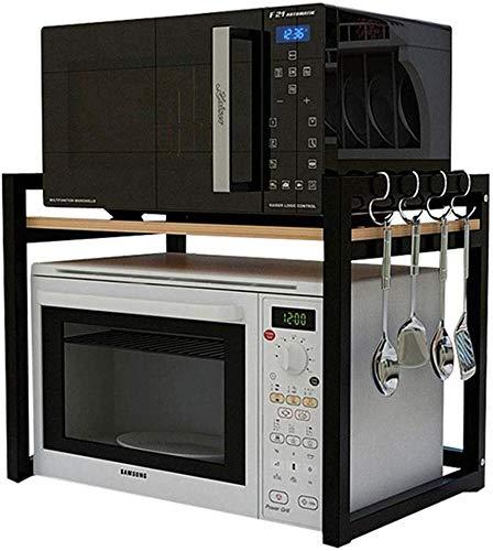 ZFFSC Platforms & Print Indoor Storage Rack badkamer rack magnetron opslag rijstkoker oven rek (kleur: geel, grootte: 56 cm * 40cm * 47cm) 53cm*40cm*47cm geel