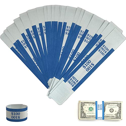Money Bands Currency Sleeves Straps – Made in USA (Pack of 330 for $100) Self-Adhesive Money Wrappers for Bills Color…