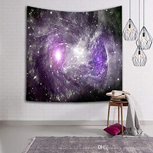 AdoDecor Tapiz de decoración de Galaxia de Noche Estrellada, Tapiz de Mandala para Colgar en la Pared, tapices de Chakra, paño de Pared Boho 152x102cm