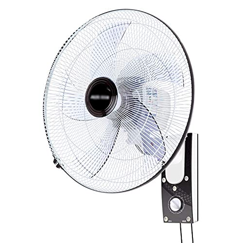 TOPNIU Wall Mounted Oscillating Fan 18' Quiet 3-Speed Oscillating Wall Mount Fan Quiet Operation Wall Fan Electric Fan for Industrial, Commercial, Residential, and Greenhouse Use
