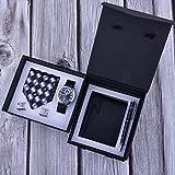 JJZXD Caja de Regalo para Hombre, Reloj de Negocios a la Moda, Billetera de Cuero, Corbata, Gemelos, bolígrafo, Regalo de cumpleaños para Hombre, día del Padre (Color : Black)