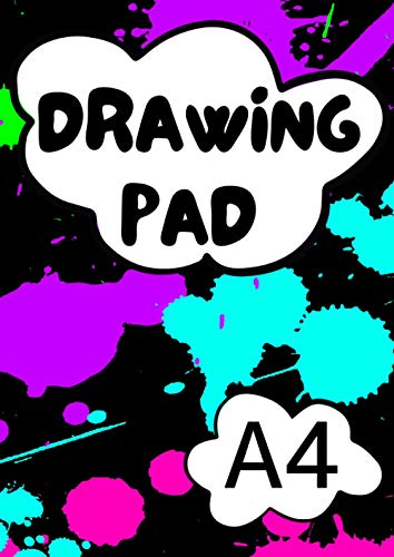 A4 Drawing Pad: 50 Plain White Paper Sheets | Sketch Book for Children | A4 Scrapbook for Kids | Sketchbook A4 Paper | 100 Pages (50 Sheets)