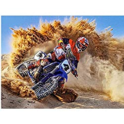 AZYVv Puzzle 1000 Teile 3D Erwachsene Puzzles Motorrad Fahren Wüste Art DIY Leisure Game Spielzeug Heimtextilien