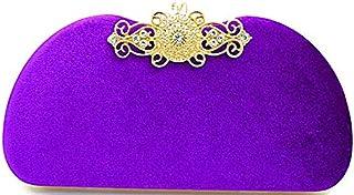 Tooba Handicraft Beautiful Flower Diamond Box Clutch