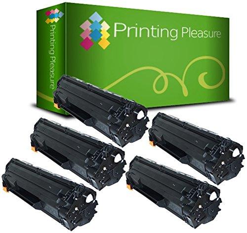 PRINTING PLEASURE 5 Toner Compatibili CE285A 85A / CRG 725 Cartuccia Laser per HP Laserjet Pro P1102 P1102W M1210 M1210MFP M1212 M1212NF M1213NF M1217NFW M1130 M1132 M1132MFP M1134 M1134MFP M1136 M1136MFP P1100 P1101 P1103 P1104 P1104W P1106 P1108 Canon I-Sensys LBP-6000 LBP-6000B LBP-6018 LBP-6020 LBP-6020B MF-3010 - Nero, Alta Resa