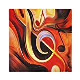 TropicalLife HaJie Tovaglioli per pittura a olio con note musicali, tovagliolo di carta satinata, in poliestere, riutilizzabili, per tavolo e bambini, 50,8 x 50,8 cm, 4 pezzi