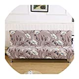 Nihaoma Big Stretch Sofa Cover Letto Fiori Stampa copridivani Slipcovers Panchina Divano copridivano Asciugamano per Salone della casa di Salon,1110,185-215Cm